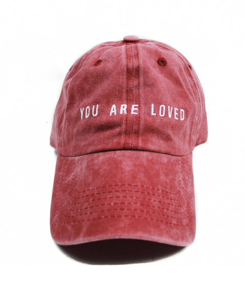 YOU ARE LOVED VINTAGE DUSTY RED CAP
