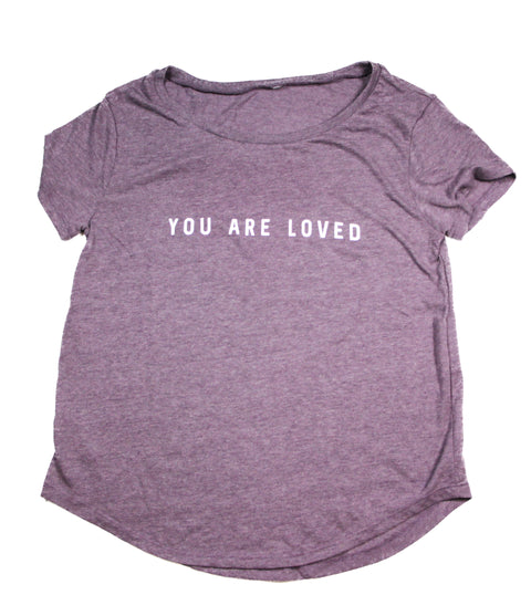 YOU ARE LOVED LILAC WOMEN'S SCOOP NECK T-SHIRT