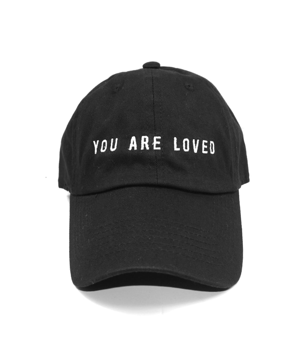 YOU ARE LOVED BLACK DAD CAP