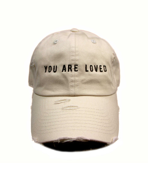 YOU ARE LOVED VINTAGE TAN CAP