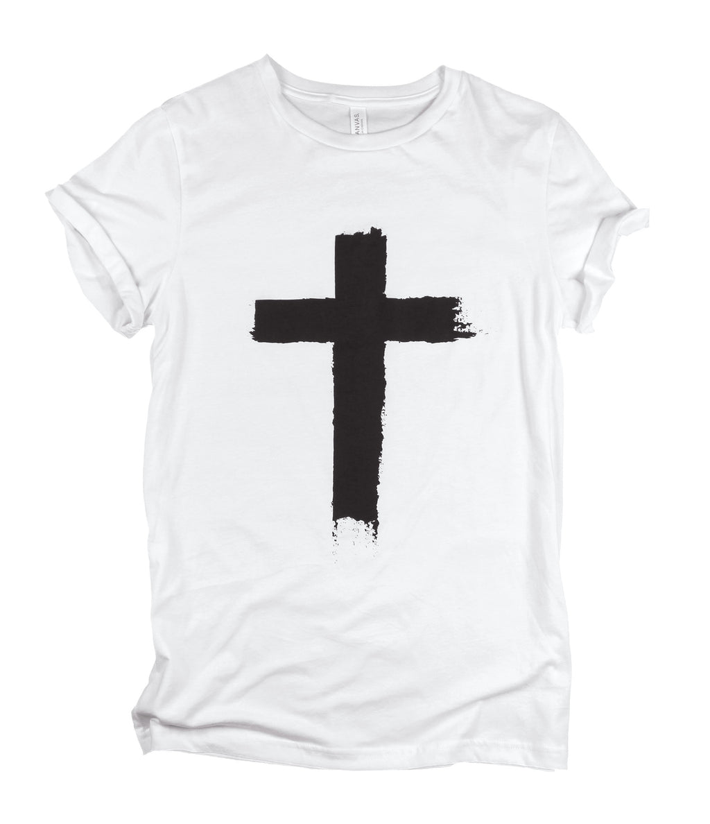 CROSS WHITE ROLLED SLEEVE T-SHIRT