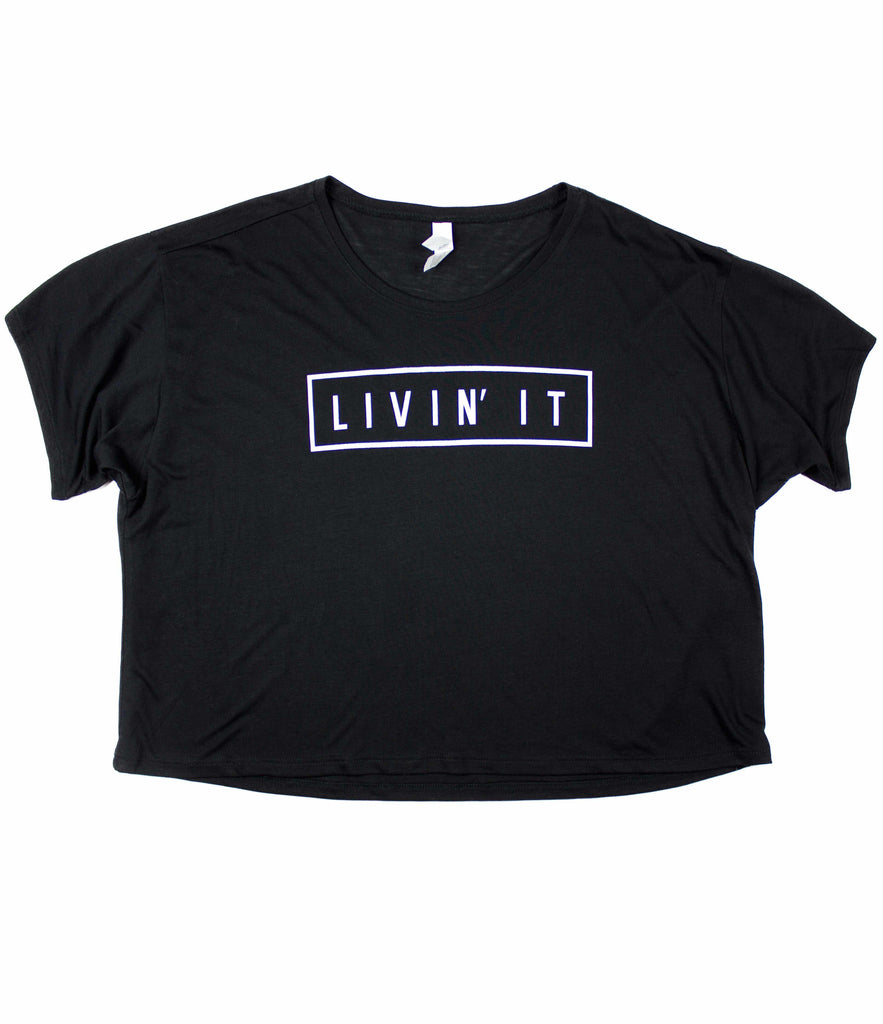LIVIN' IT BLACK WOMEN'S BOXY TEE