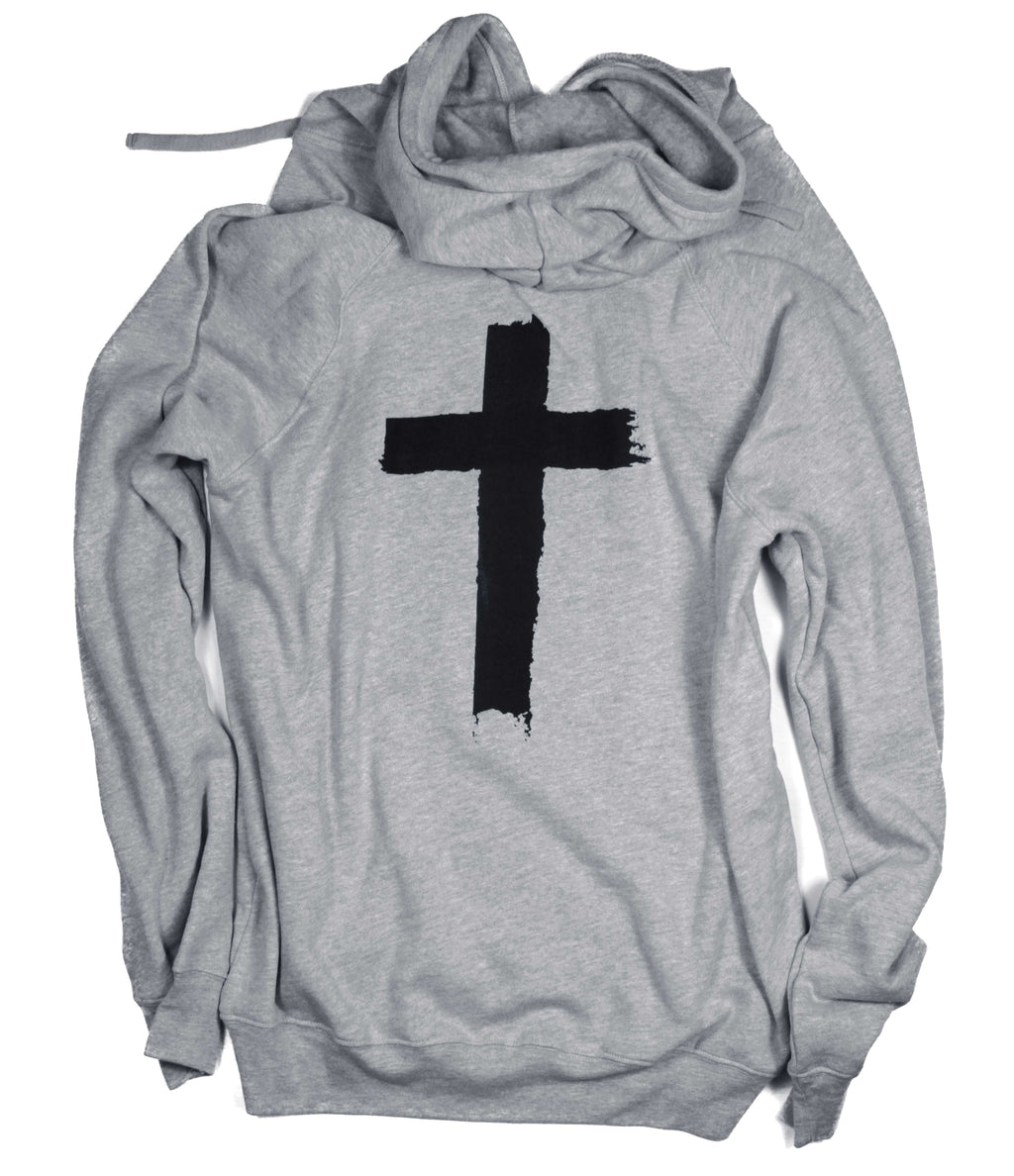 YOU ARE LOVED CROSS GRAY CROSSOVER HOODIE