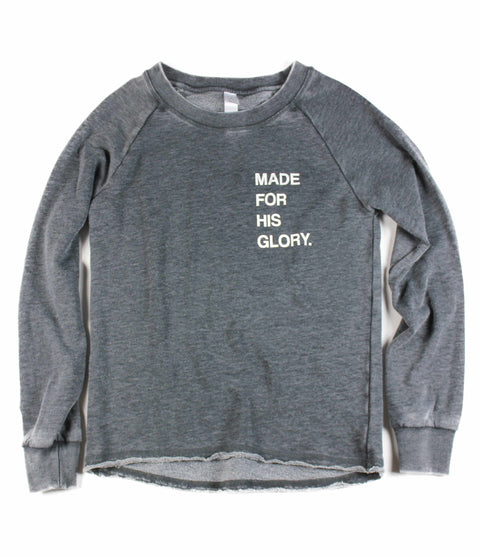 MADE FOR HIS GLORY ACID WASH PULLOVER