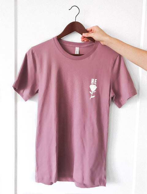 HE ROSE LILAC SLEEVE T-SHIRT