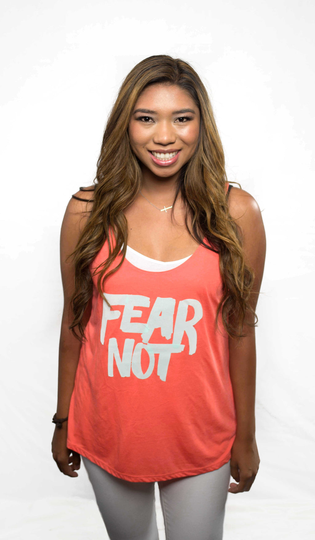 FEAR NOT CORAL WOMEN'S SLOUCHY TANK