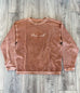 LOVE WELL TAN CORDUROY PULLOVER
