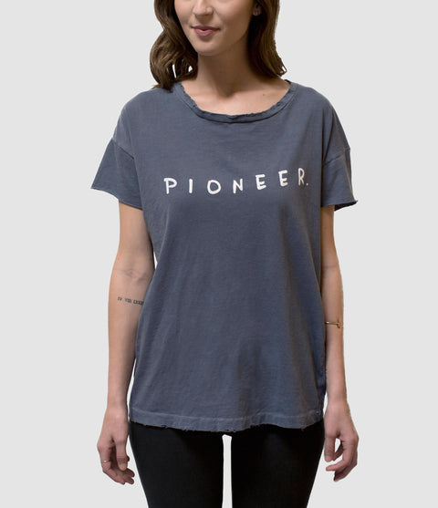 PIONEER DISTRESSED WOMEN'S T-SHIRT