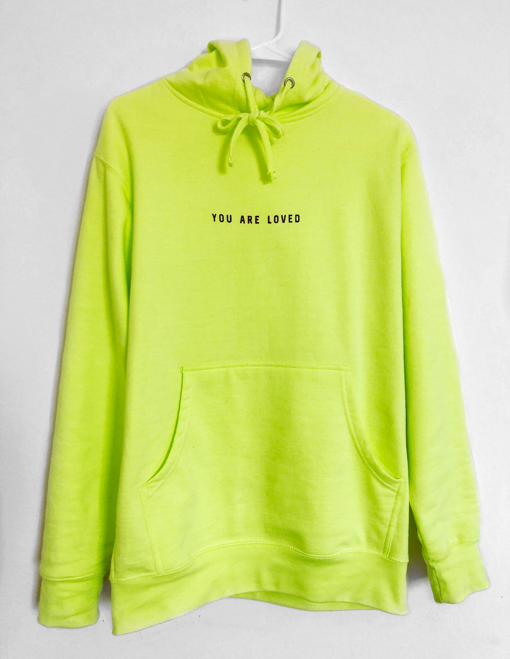 YOU ARE LOVED SAFETY YELLOW HOODIE
