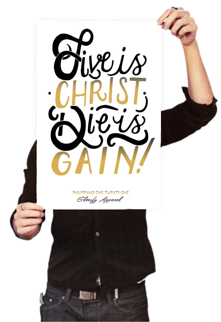 Live is Christ Poster