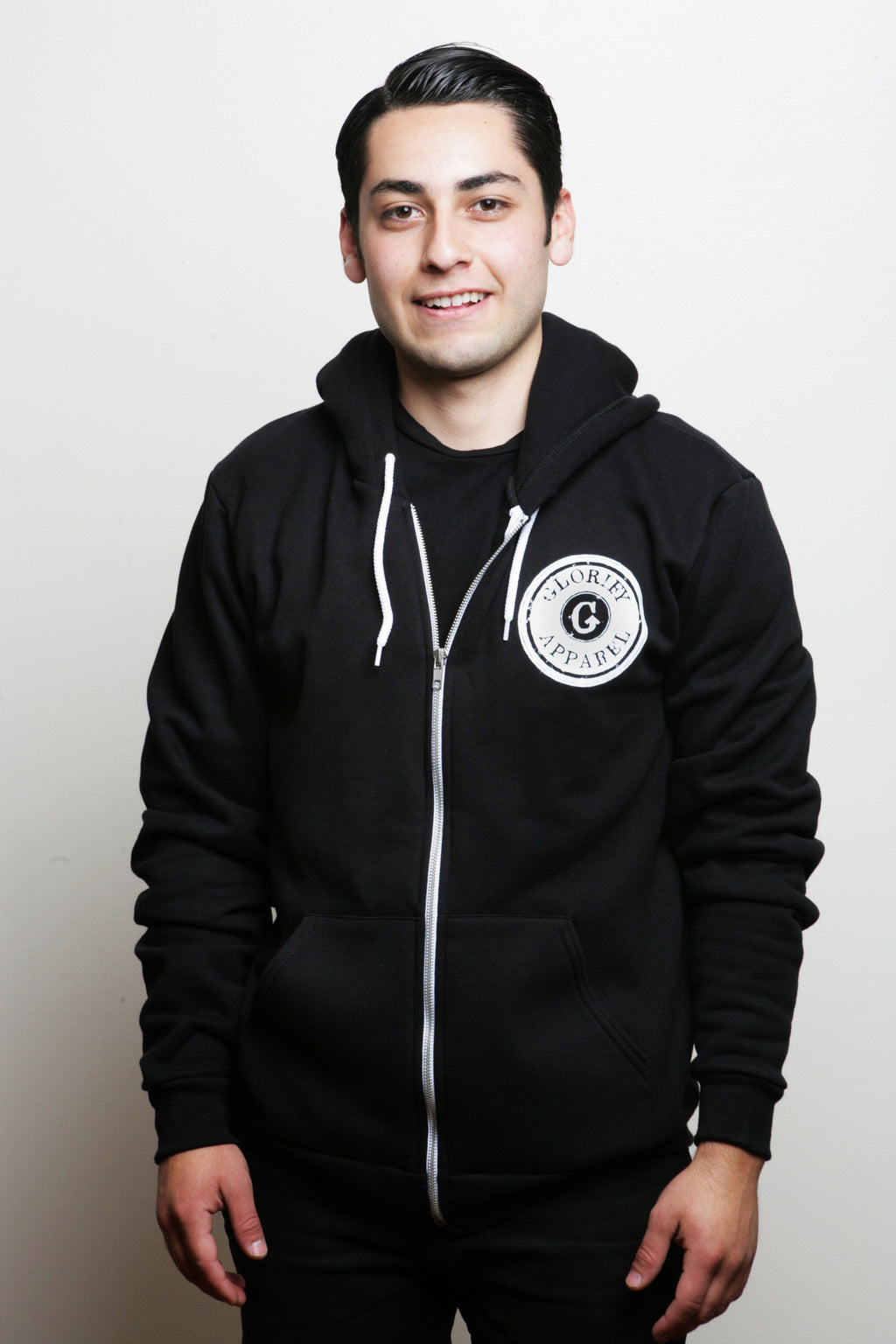 Glorify Apparel Stamp Zip-Up Hoodie