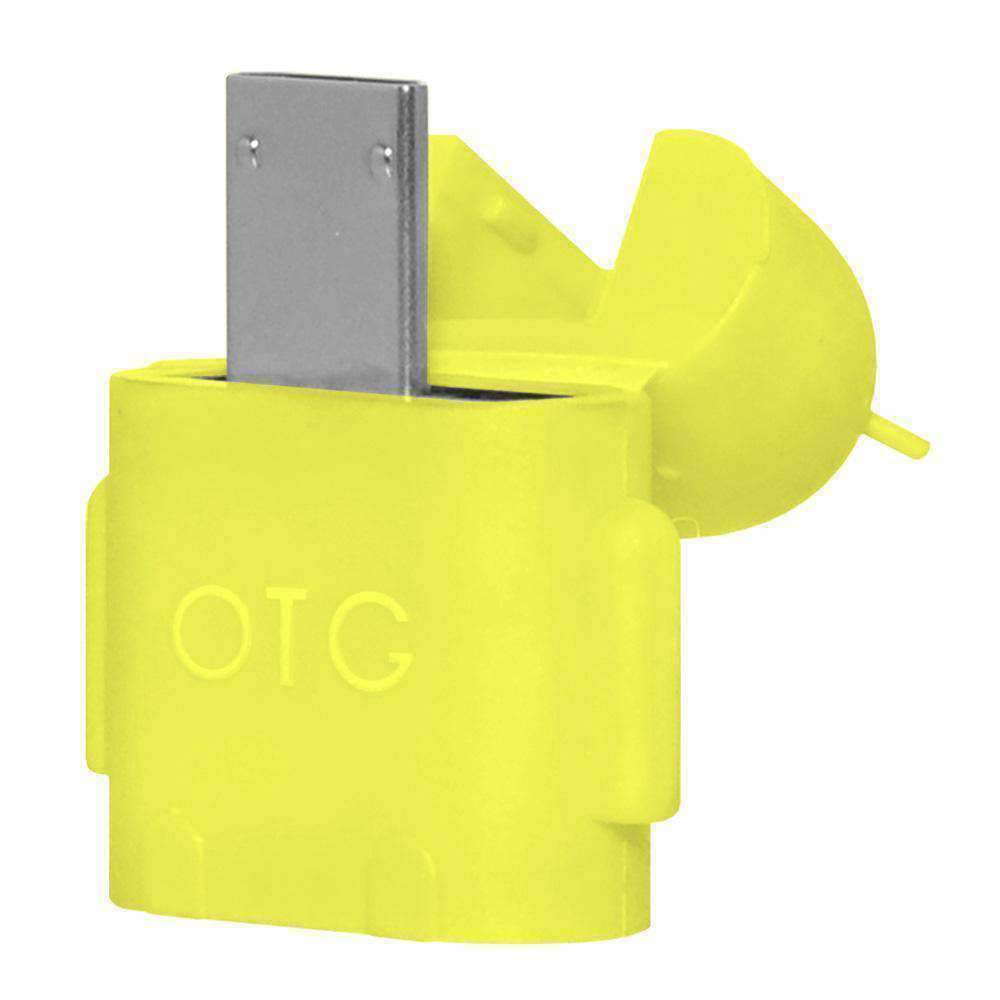 Micro USB 2 x Android Robot Shape OTG Adapter