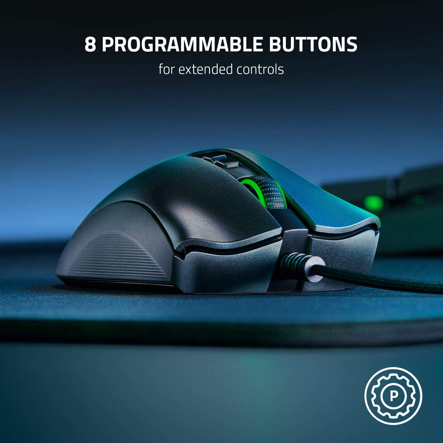 Razer DeathAdder V2 - Wired USB Gaming Mouse with Optical Mouse Switches, Focus+ 20K Optical Sensor, 8 Programmable Buttons and Best-in-class Ergonomics