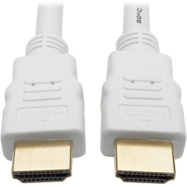 Tripp Lite High Speed HDMI Cable Ultra HD Digital Video M-M White 1080p 25ft 25'