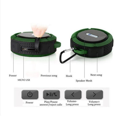 Portable C6 Waterproof Bluetooth Outdoor Wireless Car Bluetooth Speaker