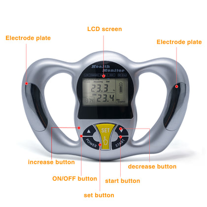 Digital LCD Monitor Fat Analyzer BMI Meter Weight Loss Instruments