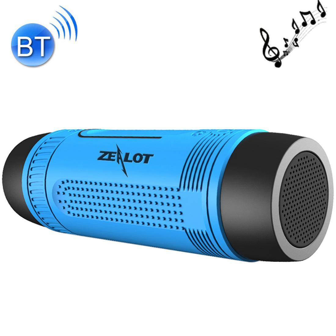 Zealot S1 4000mAh LED Flashlight & Bicycle Mount Bluetooth Speaker