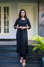 Black Double Georgette Kurti