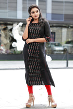 Paris Black Rayon Kurthi
