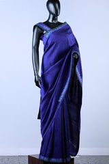 Blue Violet Embroidered Saree