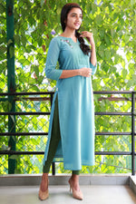 PARIS BLUE GEORGETTE KURTI