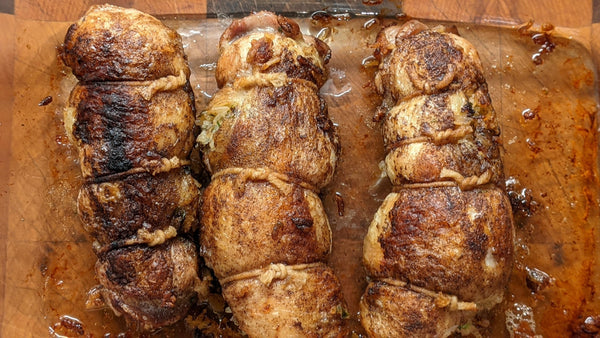 Chicken Ballotines Stuffed with Rice and Sausage