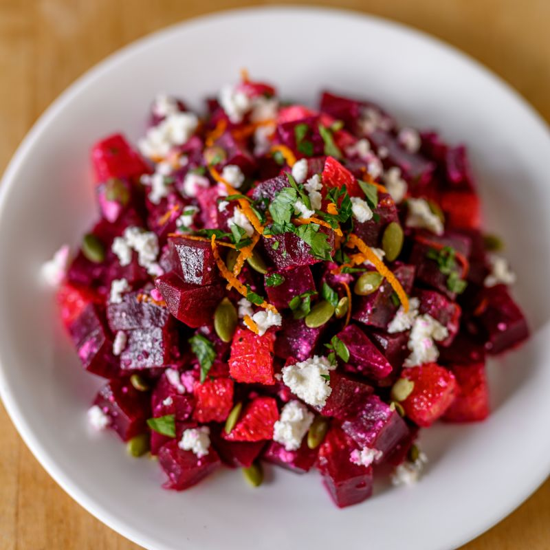 BEET, ORANGE, AND FETA SALAD