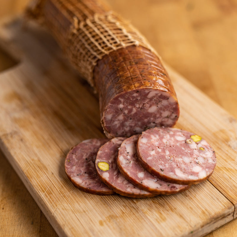 Smoked Duck and Pistachio Salami