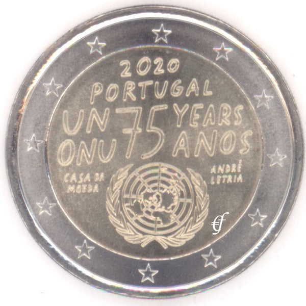 2 Euro Gedenkmünze Portugal 2020 75 Jahre Vereinte Nationen