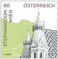 "Dauermarke ""Stephansdom Wien"" 80 Cent - skl - 4er Set"