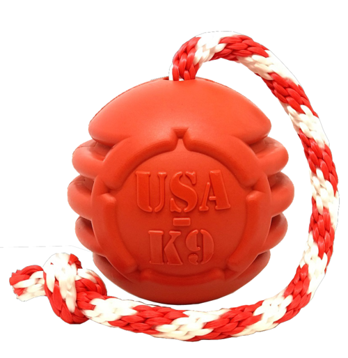 USA-K9 Stars and Stripes Ultra-Durable Durable Rubber Chew Toy, Reward