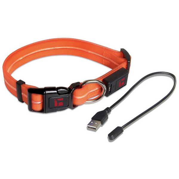 Ultrahund Orange Adjustable LED Pet Collar
