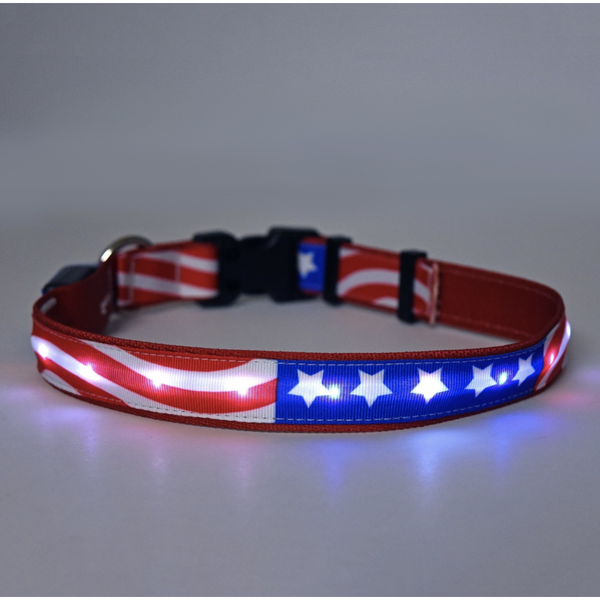 Orion Americana Flag LED Pet Collar