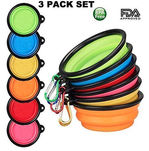Collapsible Dog Bowls - Travel Size