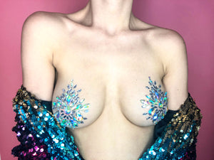 Gemme Adesive per Corpo - Consigliate per Festival e Party - Diamond Boobs