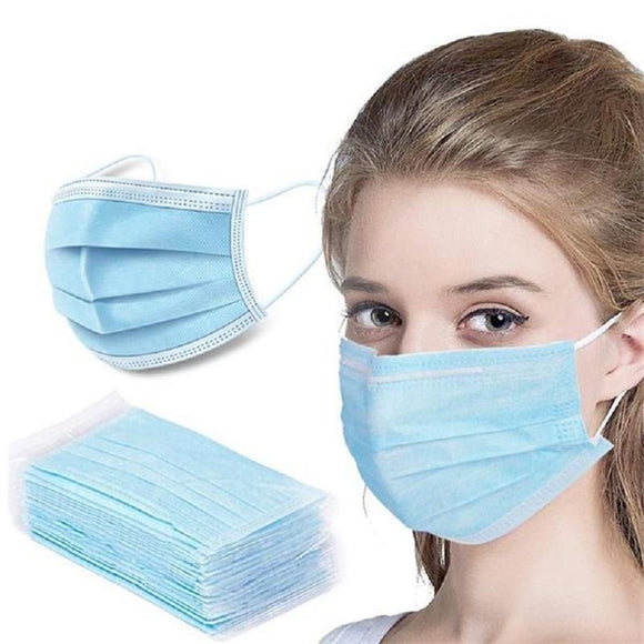 50 Pack 3 Ply Disposable Face Cover