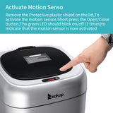 Silver Motion Sensor Trash Can