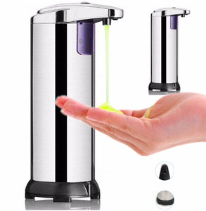 Automatic Liquid Soap Dispenser Sanitizer Dispensador Stainless Steel Infrared Plastic Smart Sensor Touchless ABS Electroplated