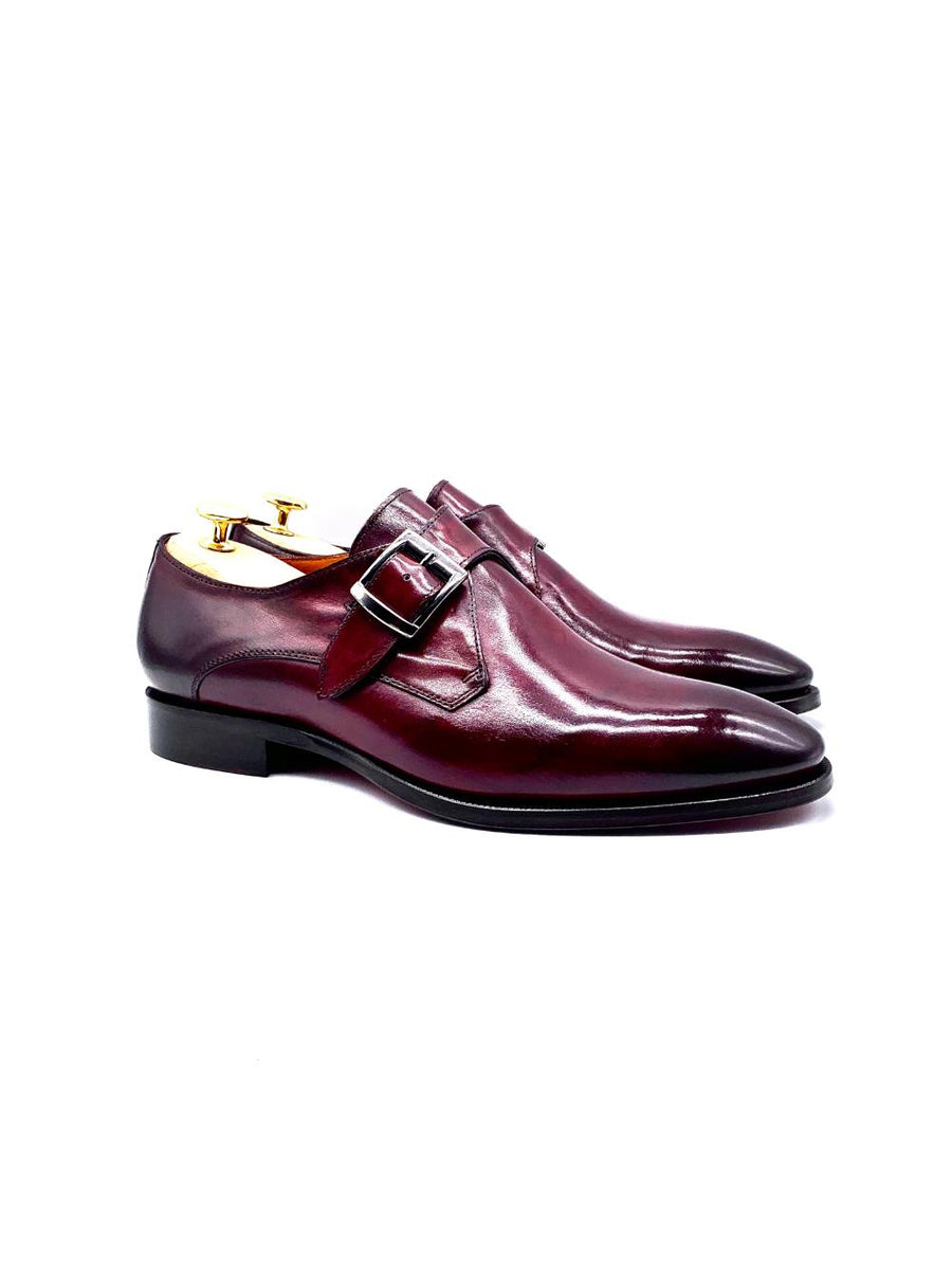 Herrenschuh Monk - Boxcalf-Bordeaux-Roberto & Son's