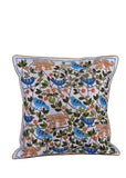 Tiger Bird Embroidered Cushion Cover