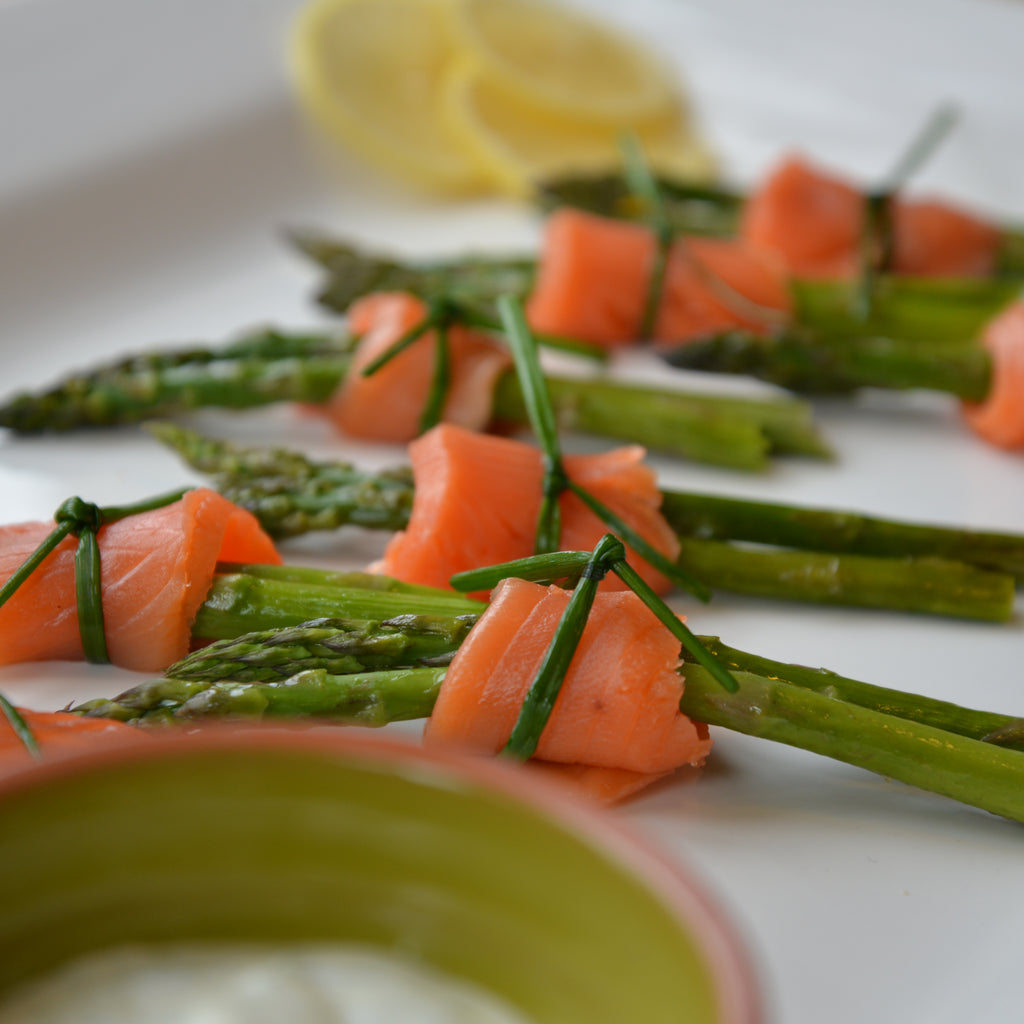 Roasted Asparagus with Smoked Salmon