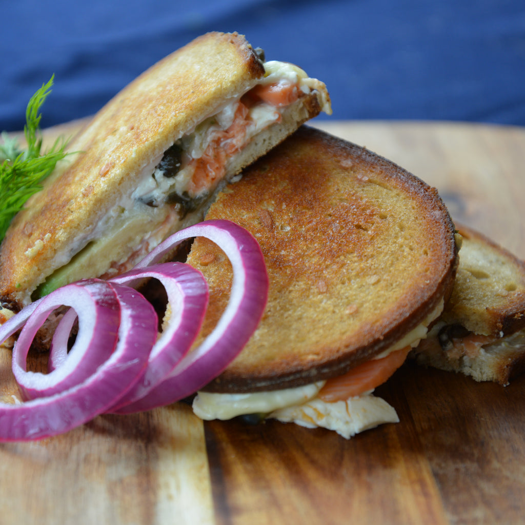 Grilled Cheese with Smoked Salmon