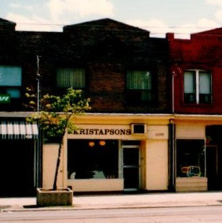 Original Kristapsons location at 1095 Queen St E., Toronto
