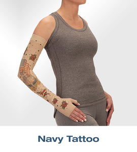 Juzo - Printed Soft Arm Sleeve - Tattoo Collection