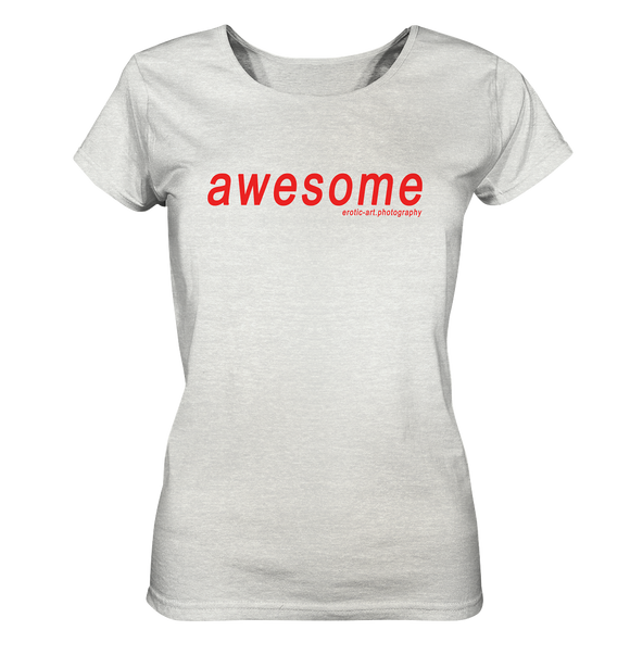 awesome - Ladies Organic Shirt (meliert)