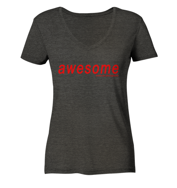 awesome - Ladies Organic V-Neck Shirt