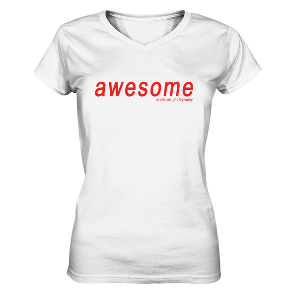 awesome - Ladies V-Neck Shirt