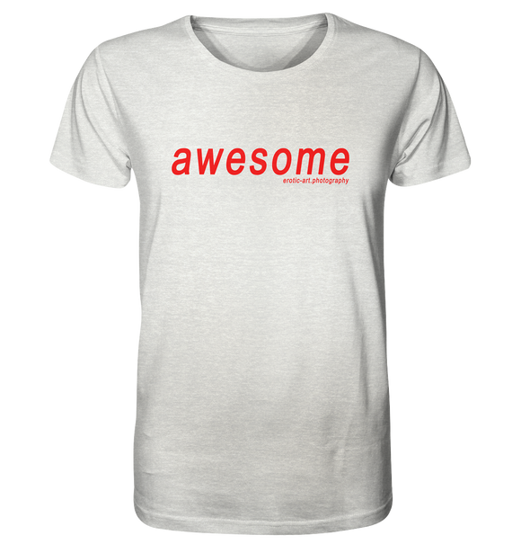 awesome - Organic Shirt (meliert)
