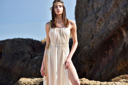 dress is made for the beach and poolside lounging