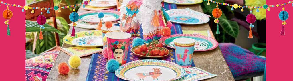 Boho Mexican Frida Kahlo Floral Party Supplies